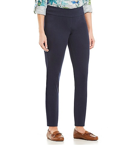 Ruby Rd. Petite Size Pull-On Knitted Twill Knit Skinny Ankle Pants