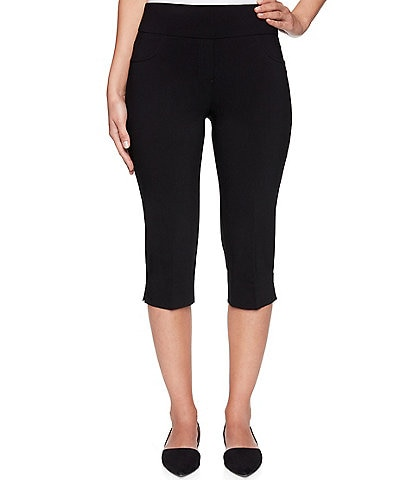 Ruby Rd. Petite Size Solar Millenium Stretch Pull-On Clamdigger Pant