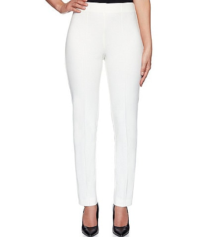 Ruby Rd. Petite Size Stretch Ponte Pull-On Pants