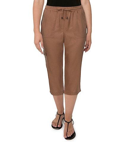 Ruby Rd. Petite Size Tencel Twill Drawstring Capri Pants