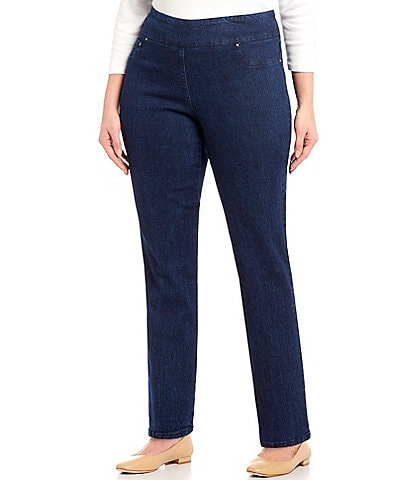 4585c87d88c Ruby Rd. Plus Pull-On Denim Jeans