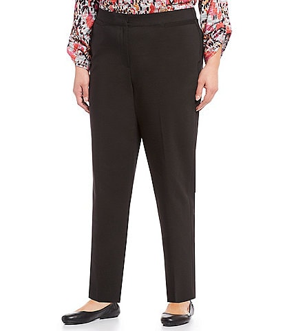 Ruby Rd. Plus Size Double Face Stretch Ankle Pants