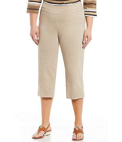Ruby Rd. Plus Size Pull-On Solar Millennium Capri Pants