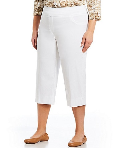 Ruby Rd. Plus Size Pull-On Solar Millennium Capri Pants