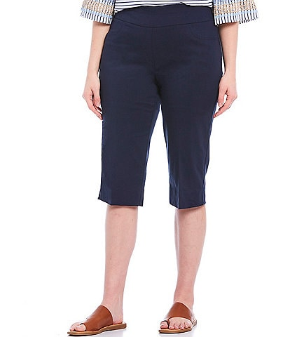 Ruby Rd. Plus Size Pull-On Solar Millennium Tech Clamdigger Pants