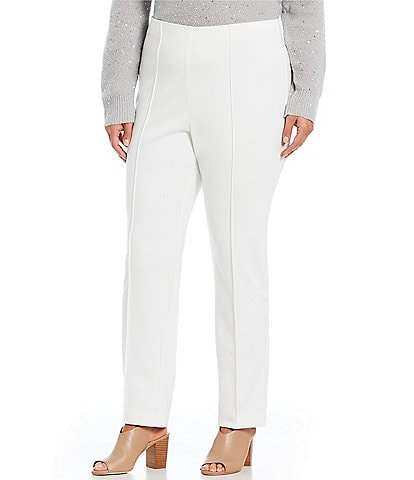 Ruby Rd. Plus Size Pull-On Stretch Ponte Pants