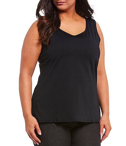 Ruby Rd. Plus Size Solid Scoop Neck Tank
