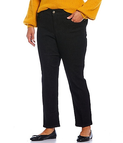 Ruby Rd. Plus Size Straight Leg Stretch Denim Pants