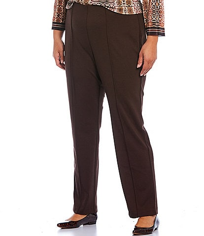 Ruby Rd. Plus Size Stretch Ponte Pull-On Pants