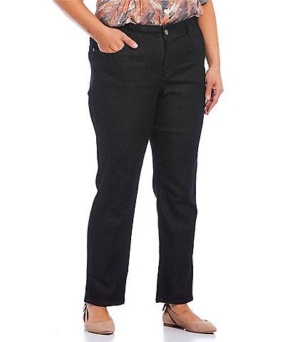 Ruby Rd. Plus Size Super Soft Stretch Denim Straight Leg Jeans