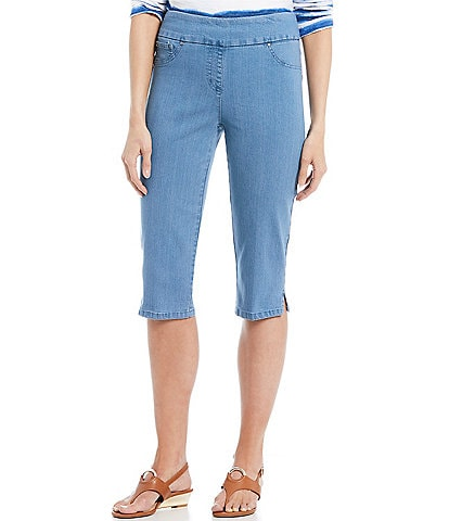 b6b7142bee5b2 Ruby Rd. Pull-On Extra Stretch Denim Clamdigger Capri