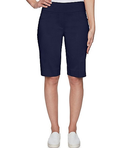 Ruby Rd. Pull-On Solar Millenium Mid-Length Tech Shorts