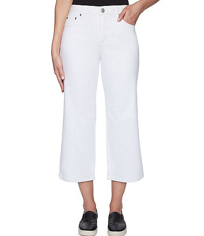 Ruby Rd. Soft Colored Stretch Denim Flared Leg Cropped Pants