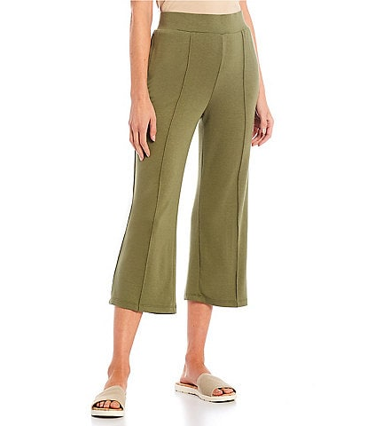 Ruby Rd. Soft French Terry Wide-Leg Pull-On Capri Sweatpants