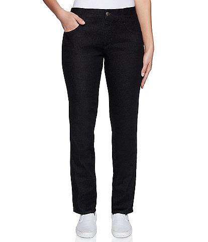 Ruby Rd. Soft Stretch Denim Straight Leg Ankle Jeans