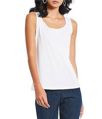 Ruby Rd. Scoop Neck Sleeveless Knit Tank