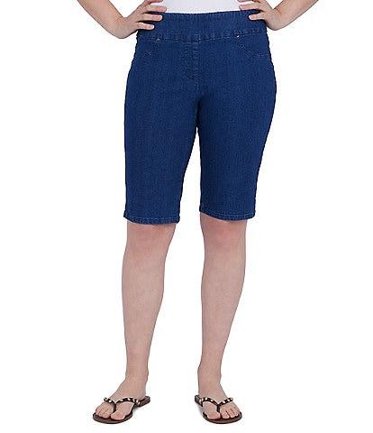 Ruby Rd. Stretch Denim Pull-On Bermuda Shorts