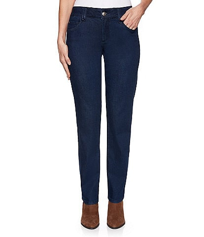 Ruby Rd. Super Soft Stretch Denim Straight Leg Pants