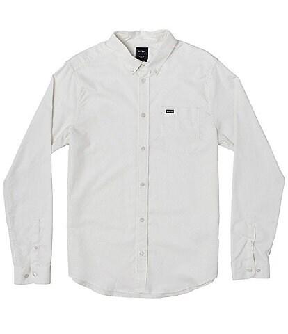 RVCA Big Boys 8-20 Long-Sleeve Oxford Shirt