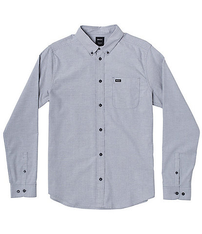 RVCA Big Boys 8-20 Long-Sleeve Oxford Shirt
