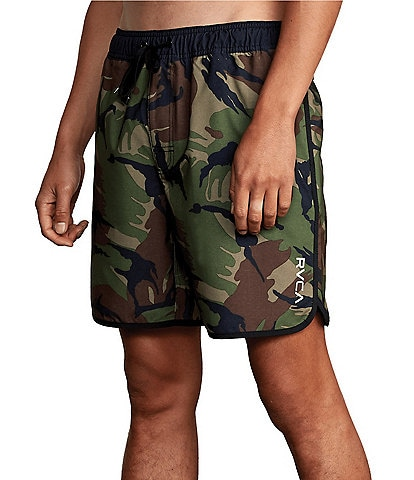 RVCA Eastern Elastic Pull-On Camo 17#double; Outseam Shorts