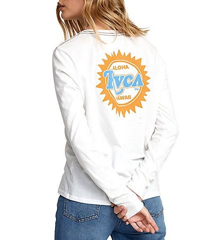 RVCA Long Sleeve Sunburst Aloha Tee