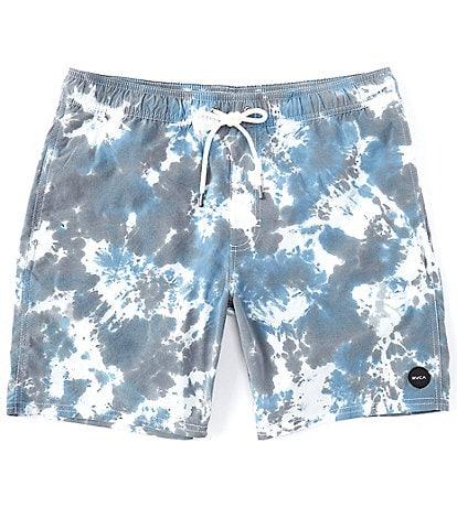 RVCA Manic Elastic Tie-Dye Print 17#double; Outseam Shorts
