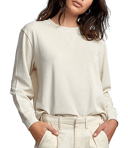 RVCA Mica Long-Sleeve Burnout Pullover Sweatshirt
