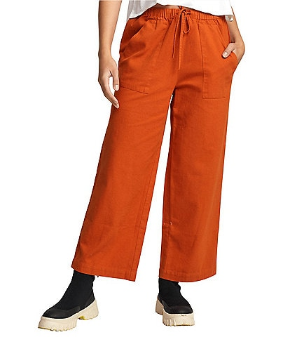 RVCA Palla Cropped Wide-Leg Pants
