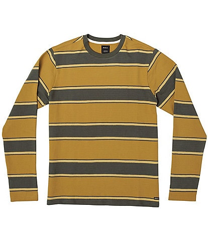 RVCA Reducer Stripe Long-Sleeve Textured Terry Tee