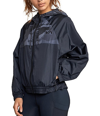 RVCA VA Sport Rise Up Long-Sleeve Hooded Jacket