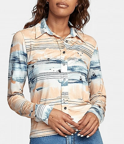 RVCA Rolling Long-Sleeve Placement-Printed Shirt
