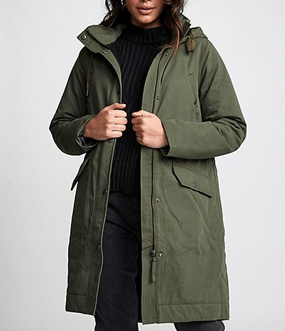 RVCA Runyon Long-Sleeve Canvas Hooded Parka Jacket