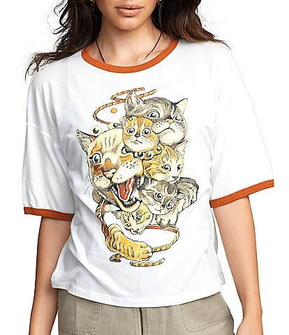 RVCA Shintaro Cats Short-Sleeve Jersey Tee