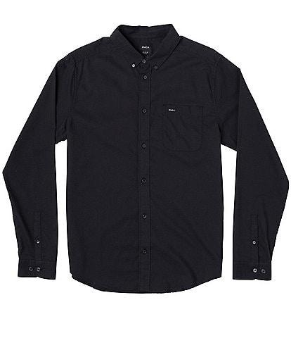 RVCA That'll Do Stretch Long-Sleeve Oxford Shirt