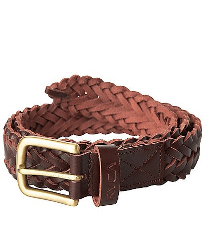 RVCA Twine Woven Leather Belt