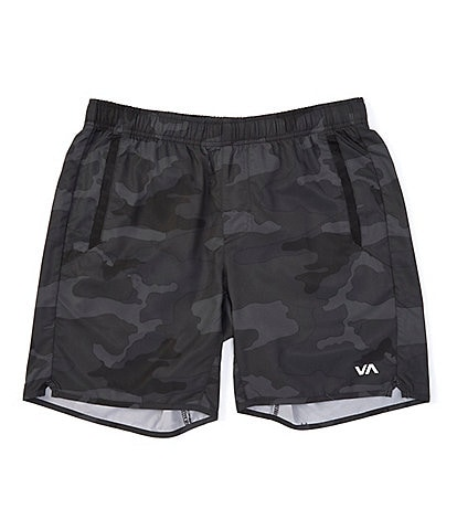RVCA VA Sport Yogger lV Elastic Pull-On 17#double; Outseam Camo Athletic Shorts