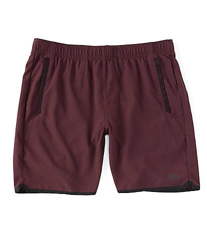 RVCA VA Sport Yogger lV Elastic Pull-On 17#double; Outseam Solid Athletic Shorts