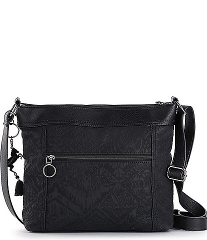 Sakroots Arcadia Finn Embossed Cross-Body Bag