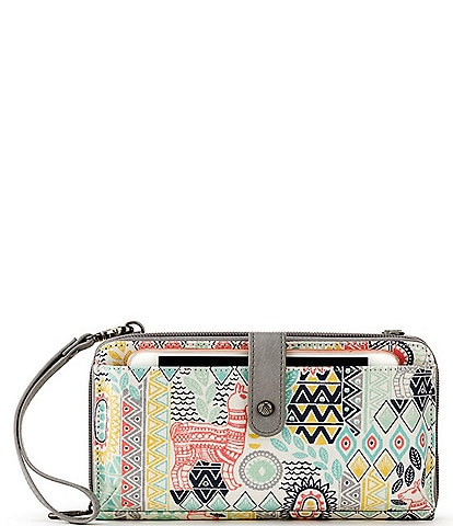 Sakroots Artist Large Smartphone Colorblock Crossbody Bag