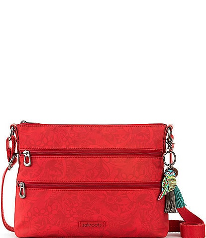 Sakroots Basic Zip Top Crossbody Bag