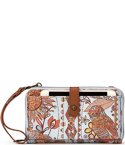 Sakroots Large Canvas Smartphone Crossbody Bag