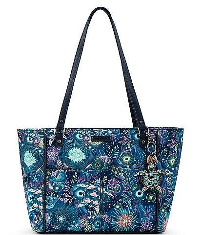 Sakroots Medium Paisley Print Nylon Tote Bag