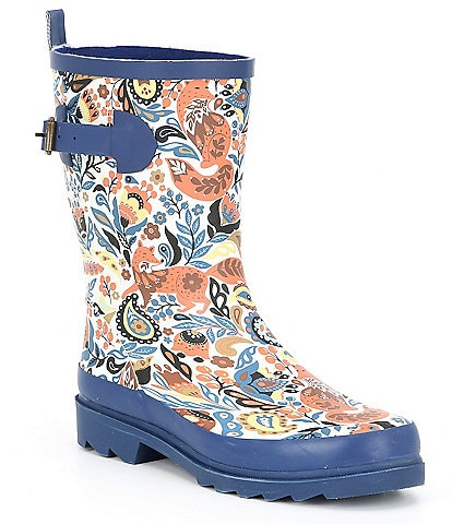 Sakroots Ringo Floral Print Waterproof Rain Boots
