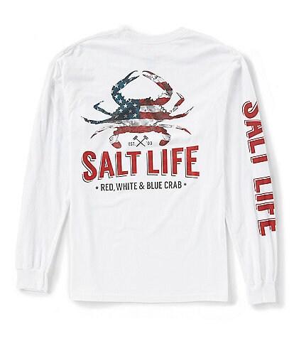 Salt Life American Crab Long-Sleeve Pocket Tee