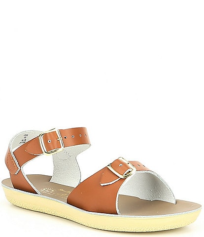 Saltwater Sandals by Hoy Girls' Sun-San Surfer Water Friendly Leather Sandals (Toddler)