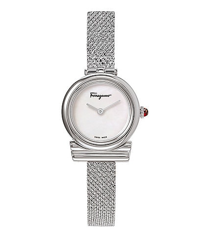 Salvatore Ferragamo Gancino Collection Stainless Steel Mesh Watch
