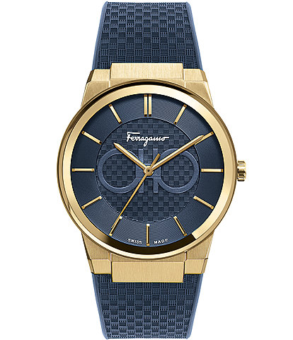Salvatore Ferragamo Men's Sapphire Blue Rubber Watch