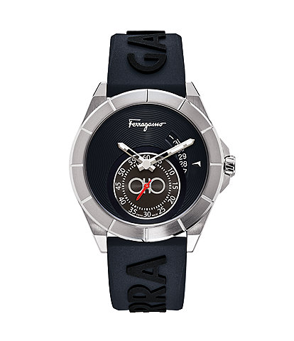 Salvatore Ferragamo Men's Urban Navy Blue Rubber Watch