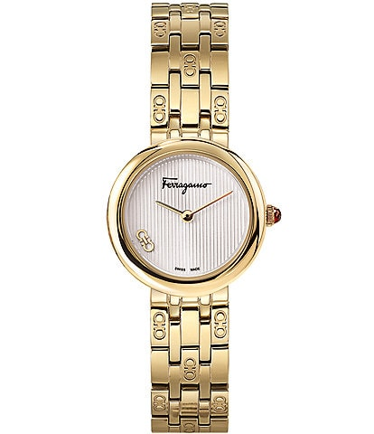 Salvatore Ferragamo Swiss Forever Gold Stainless Steel Bracelet Watch